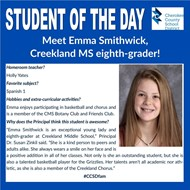 smithwick student of the day