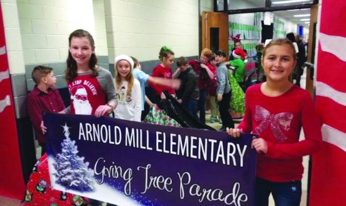 Arnold Mill ES Giving Tree 12 19 18