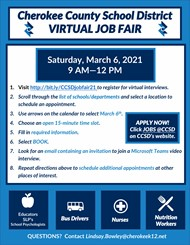 CCSD 2021 Job Fair Instructions