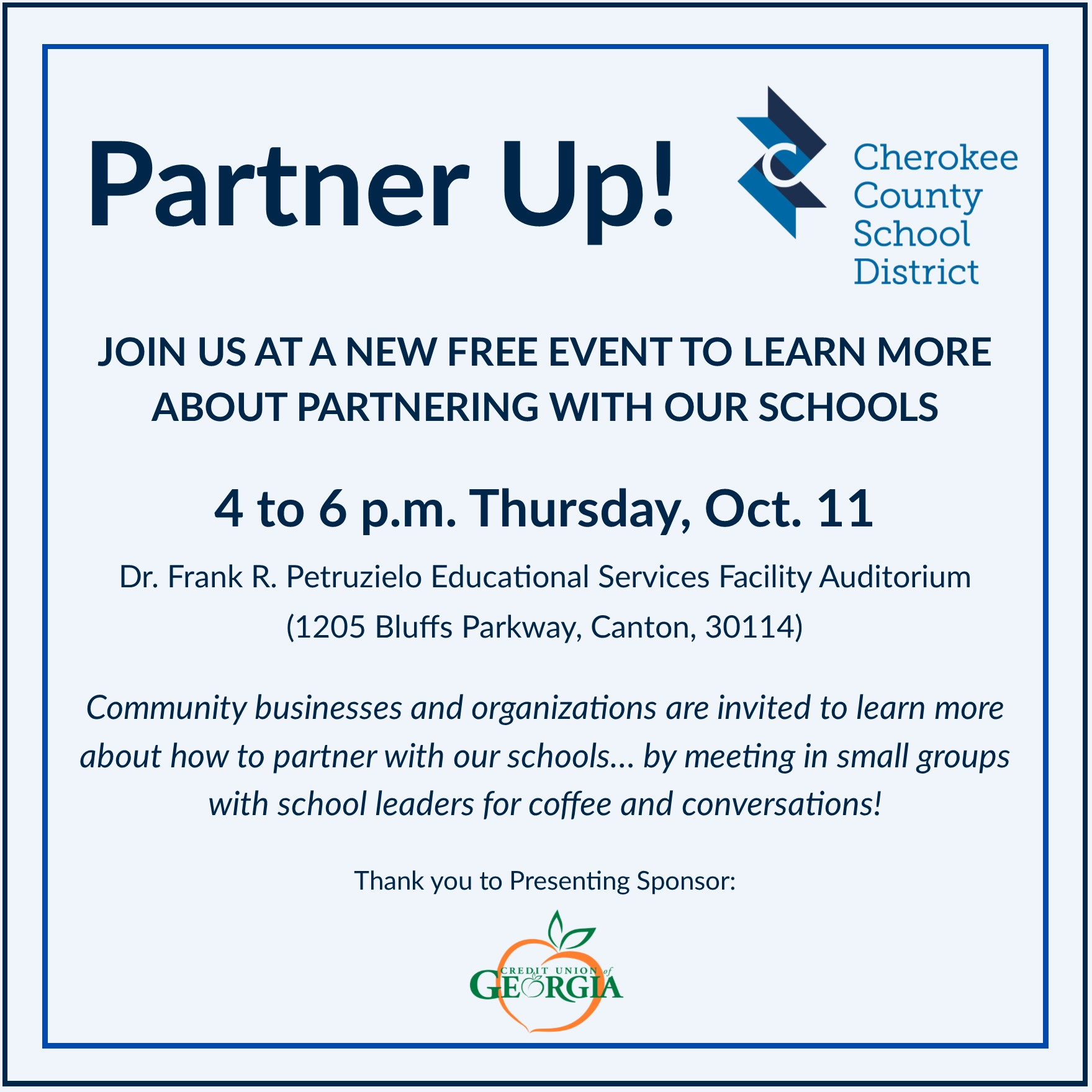 CCSD Partner Up 2018 invite