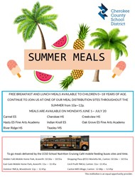 CCSD Summer Meals Flier 2020