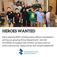 heroes wanted police job ad