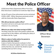 meet officer Brian Stevenson CVHS 12 10 19