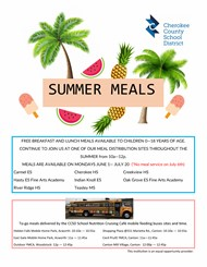 CCSD Summer Meals Flier 2 2020