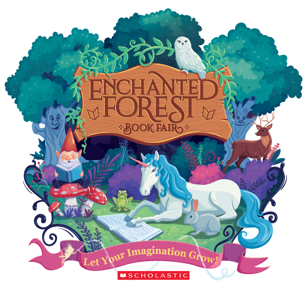 enchanted forest book fair logo