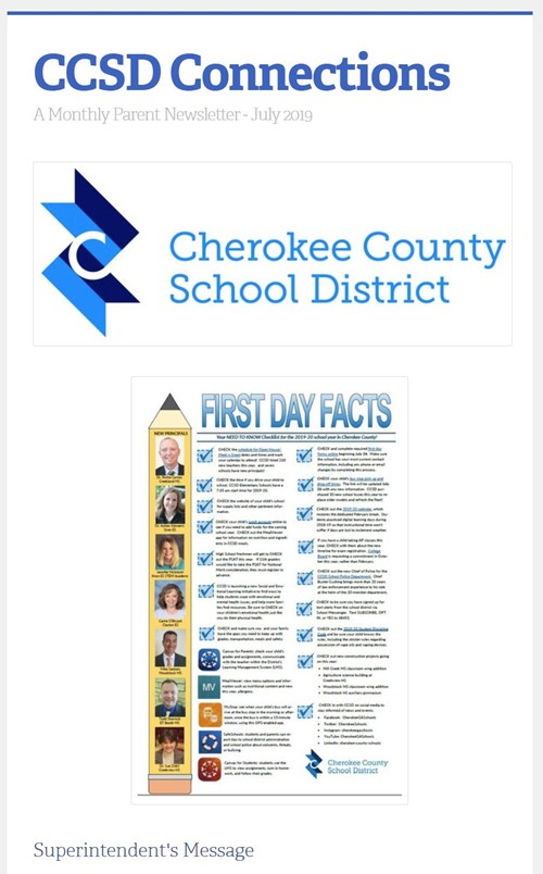 CCSD Connections July 2019 image
