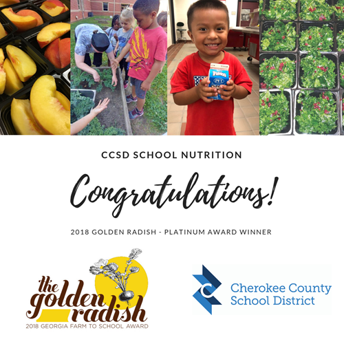 CCSD School Nutrition 2018 Golden Radish Award