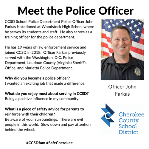 meet the officer John Farkas WHS 3 10 20