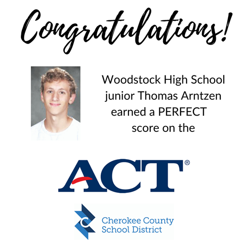 perfect ACT score WHS Thomas Arntzen 2 7 10