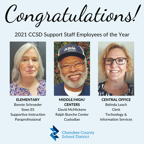 post CCSD Support Staff Employees of the Year Awards 3 11 21