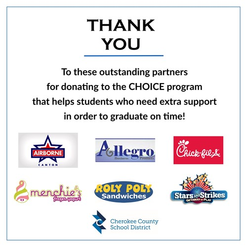 thank you CHOICE donations 3 27 19