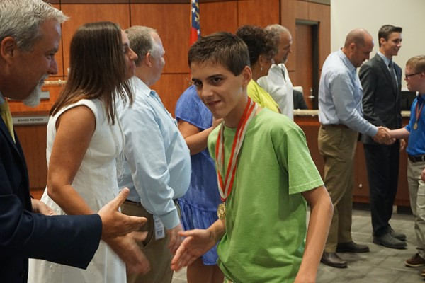 Recognition of Special Olympics champions