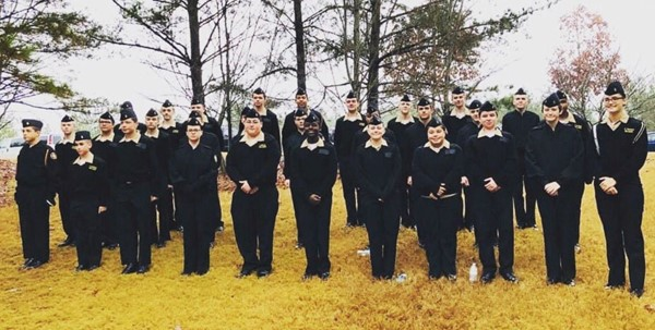The Woodstock High School Navy Junior ROTC volunteered at the Wreaths Across America Day ceremony at the Georgia National Cemetery in Canton.