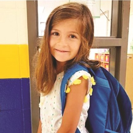 Sixes ES kindergartner Finley Burdick.