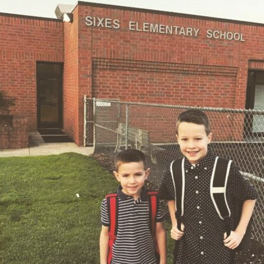 Sixes ES kindergartner Jennings and third-grader Turner Peppers.