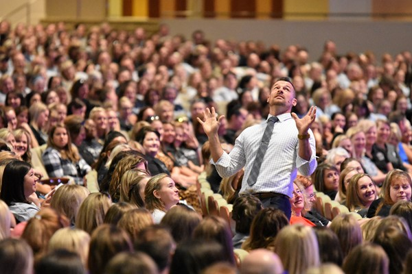 Speaker Weston Kieschnick gets educators engaged.