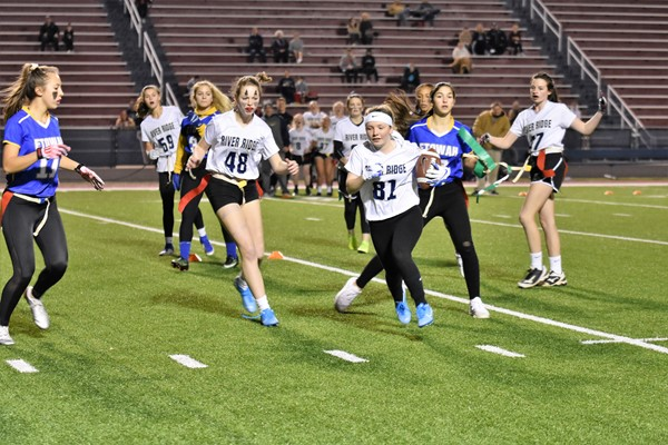 girls flag football game