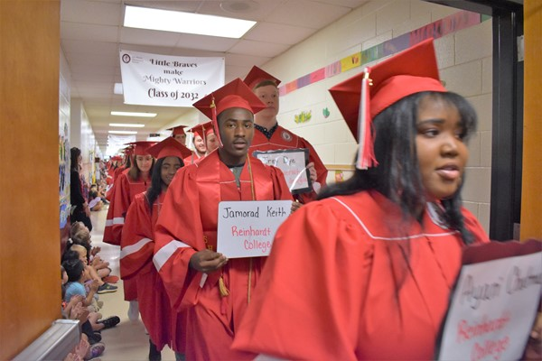 graduating students walk halls of elementary schools