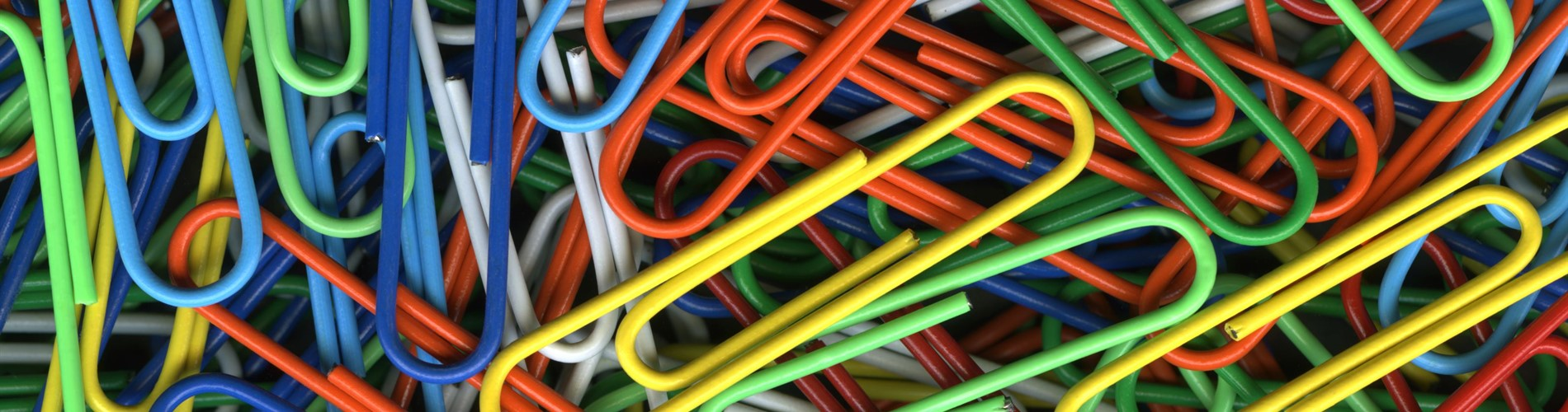 Colorful paper clips