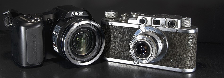 2 Nikon cameras, one old and one new