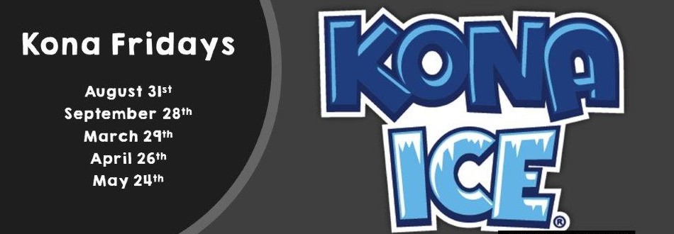 kona ice logo with dates