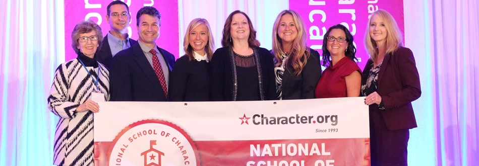 National School of Character award banner