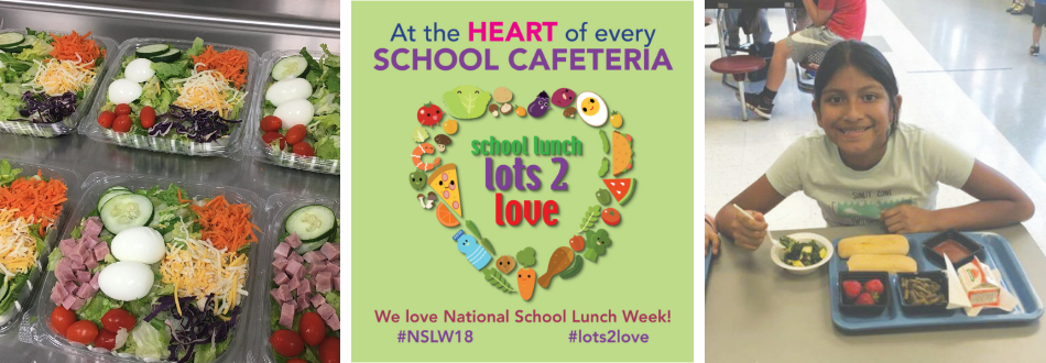 NSLW logo and images of lunch