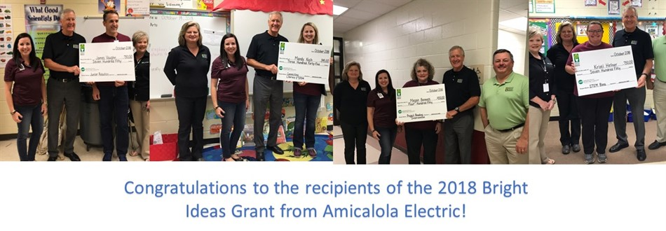 Photos of recipients of the 2018 Bright Ideas Grant