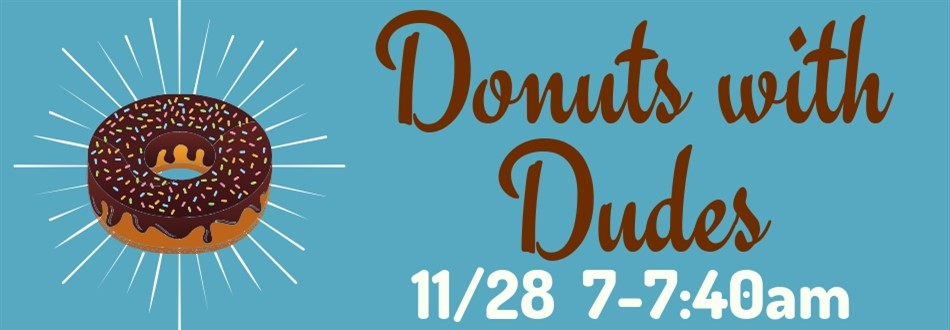 Announcement for Donuts for Dad event on 11/28