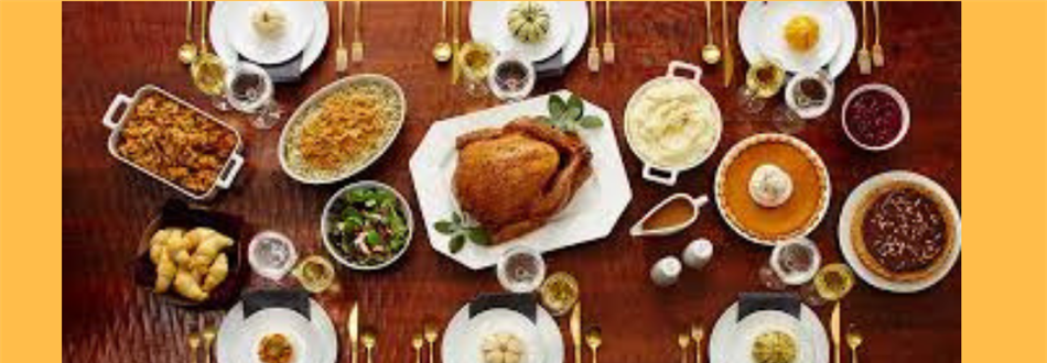 photo of table with thanksgiving food