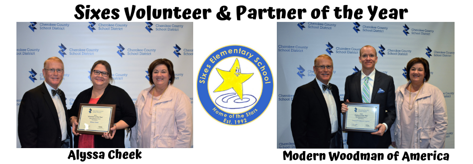 photos of the volunteer and partner of the year