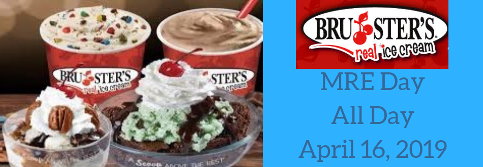 Mountain Road ES celebrates Brusters Ice Cream Day on April 16th - All day long.