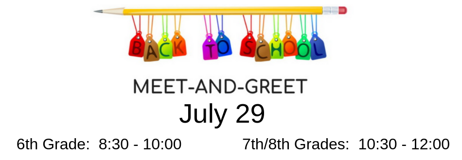 Banner showing Meet and Greet Date and Time