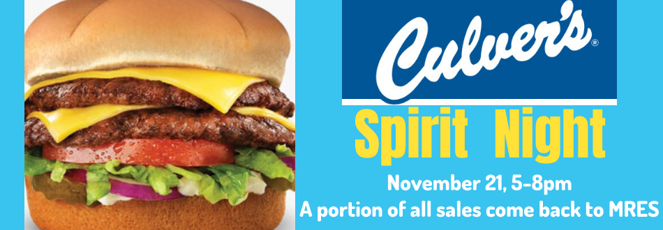 November Spirit Night at Culvers