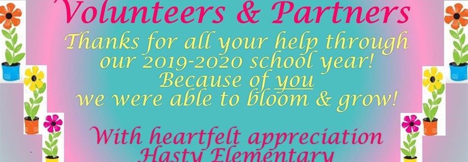 Thank you for all you do Parents and Volunteers!