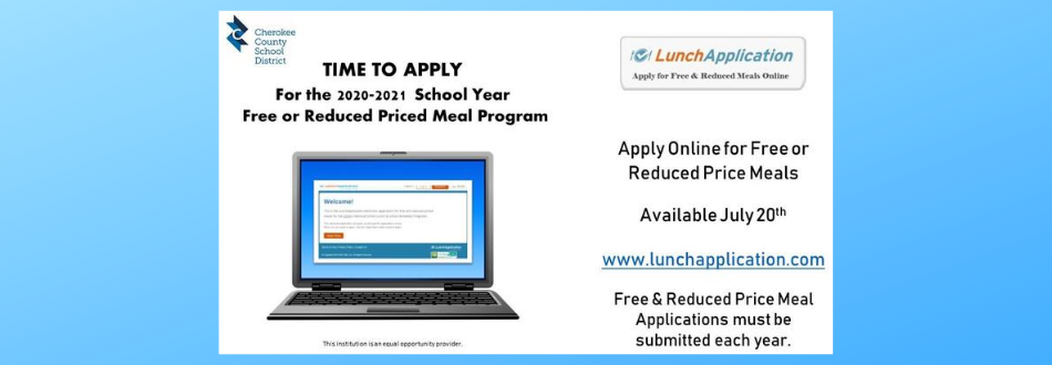 Apply Online for Free or Reduced Price Meals