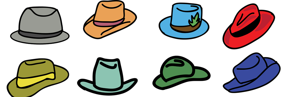 8 hats in different styles