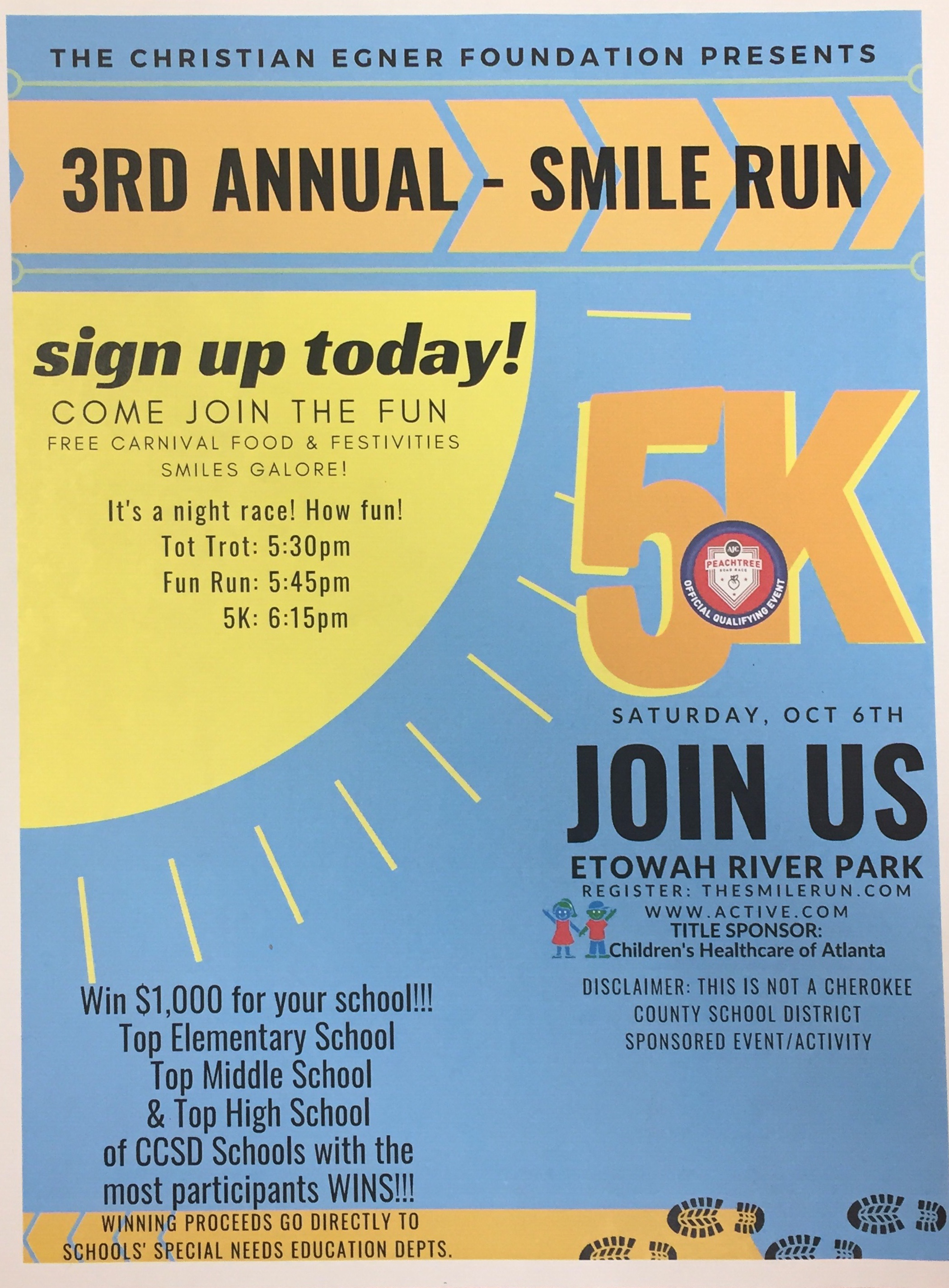Flyer for Smile 5K