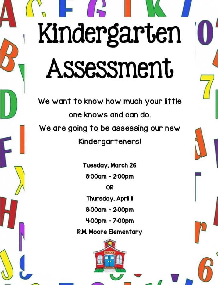 Kindergarten Assessments R M Moore Elementary School Stem Academy You can either mark through the letters the children know with a highlighter or make a i just started a kindergarten school, i searched some ways to assess them, your work is. r m moore elementary school stem academy