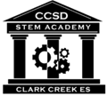 Cherokee County Schools STEM logo for Clark Creek