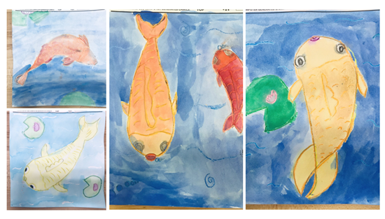 Love how 5th grades Koi Fish are turning out