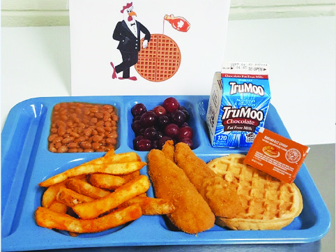 breakfast for lunch tray