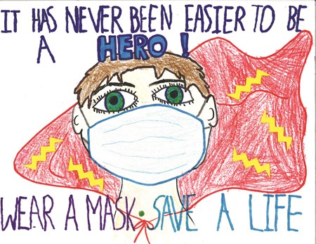 The second-place winning poster for the elementary school division was created by Boston Elementary School third-grader William Shaffer.