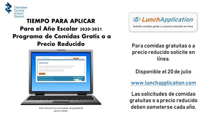 Lunch Information Spanish