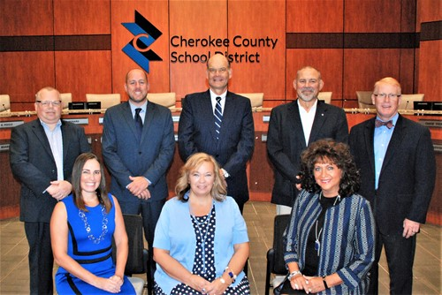 school board members and superintendent