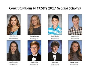 Photos of CCSD 2017 Georgia Scholars
