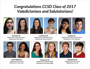 Class of 2017 Valedictorians and Salutatorians