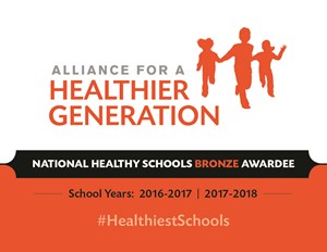 Alliance for a Healthier Generation's 2017 America's Healthiest Schools Bronze Award logo