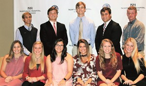 The students are, from left to right, front row: Emily Snyder, Creekview; Mallory Gilmer, Etowah; Brianna Collender, River Ridge; Breanna Roper, Woodstock; Caroline Crum, Sequoyah; Emily Pope, Cherokee; back row: Bryce Davis, Creekview; Jack Carroll, Cherokee; Liam Byrne, Woodstock; McGwire Wells, Sequoyah; Noah Fitzgerald, River Ridge. Not pictured: Stuart Head, Etowah.