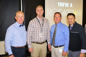 photo of the superintendent, counselor, principal and supervisor